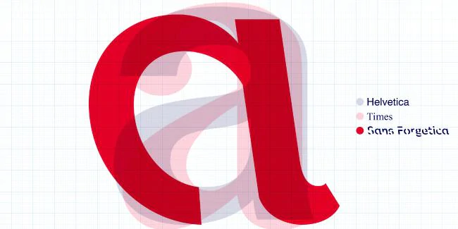 The evolution from a standard lower case letter 'a' to a Sans Forgetica lower case letter 'a'. Picture: RMIT